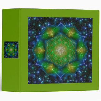 FLOWER OF LIFE/Blume des Lebens Mandala V Square 3 Ring Binder