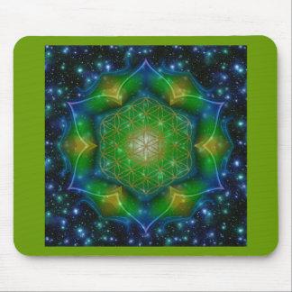 FLOWER OF LIFE/Blume des Lebens Mandala V Square Mouse Pad