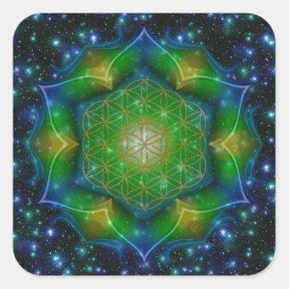 FLOWER OF LIFE/Blume des Lebens Mandala V Square Stickers