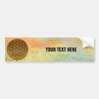 Flower Of Life / Blume des Lebens - medal gold Bumper Sticker