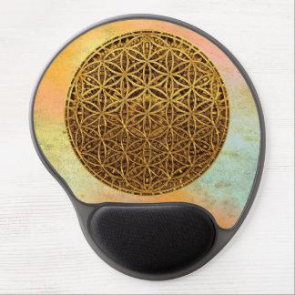 Flower Of Life / Blume des Lebens - medal gold Gel Mouse Pad
