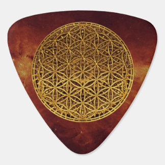 Flower Of Life / Blume des Lebens - medal gold Guitar Pick