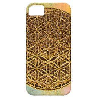 Flower Of Life / Blume des Lebens - medal gold iPhone SE/5/5s Case