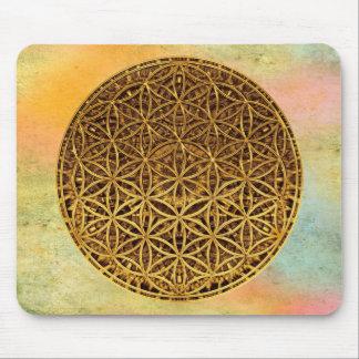 Flower Of Life / Blume des Lebens - medal gold Mouse Pads