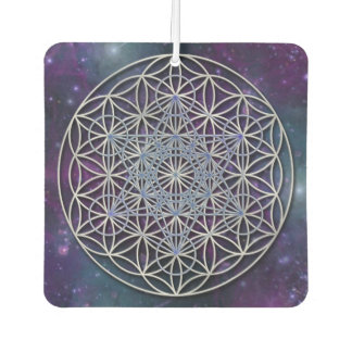 Flower Of Life / Blume des Lebens - Metatron Cube Car Air Freshener