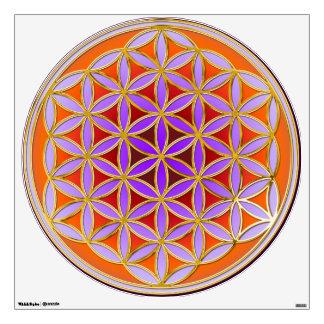 Flower of Life Blume des Lebens - orange Room Graphic