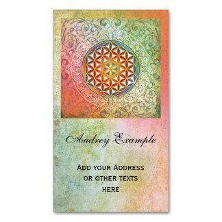 Flower Of Life / Blume des Lebens - Ornament I Business Card Magnet