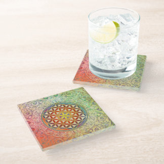 Flower Of Life / Blume des Lebens - Ornament I Glass Coaster