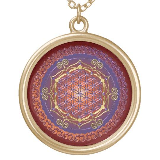 FLOWER OF LIFE / Blume des Lebens - Ornament I Gold Plated Necklace