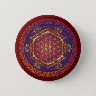 FLOWER OF LIFE / Blume des Lebens - Ornament I Pinback Button