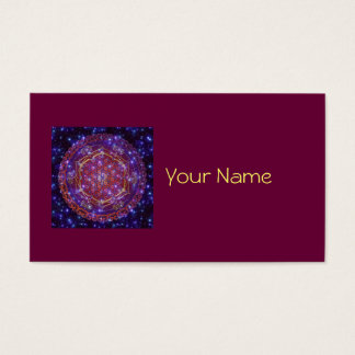 FLOWER OF LIFE/Blume des Lebens Ornament I Square Business Card