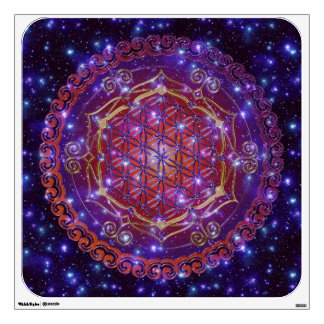 FLOWER OF LIFE Blume des Lebens Ornament I Square Wall Decals