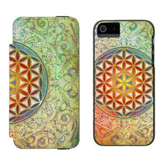 Flower Of Life / Blume des Lebens - Ornament I Wallet Case For iPhone SE/5/5s