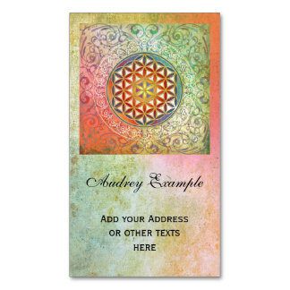 Flower Of Life / Blume des Lebens - Ornament I Magnetic Business Cards (Pack Of 25)