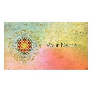Flower of Life / Blume des Lebens - Ornament IV BG Business Card