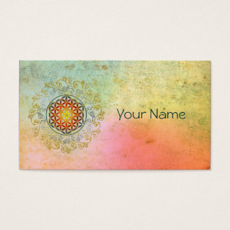 Flower of Life / Blume des Lebens - Ornament IV BG Business Card