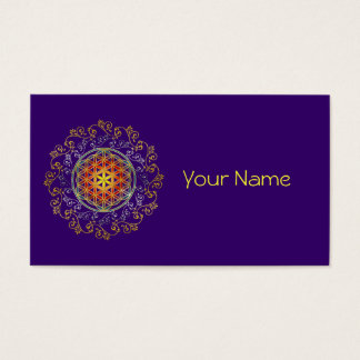 FLOWER OF LIFE / Blume des Lebens - Ornament IV Business Card