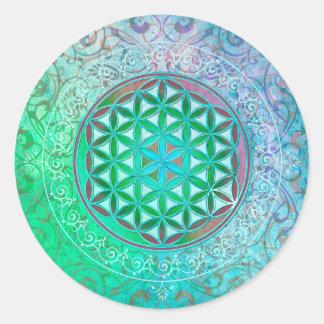 Flower Of Life / Blume des Lebens - Ornament IV Classic Round Sticker