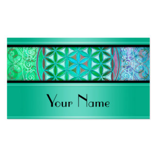 Flower Of Life / Blume des Lebens - Ornament IV Double-Sided Standard Business Cards (Pack Of 100)