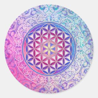 Flower Of Life / Blume des Lebens - Ornament V Classic Round Sticker