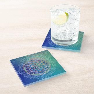 Flower Of Life / Blume des Lebens - Ornament VI Glass Coaster