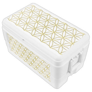 Flower of Life / Blume des Lebens - pattern gold Cooler