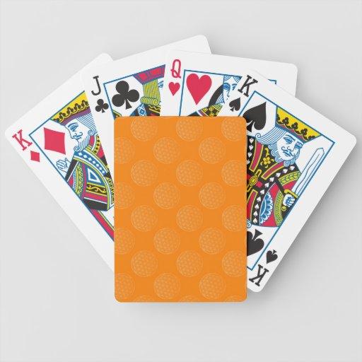 Flower Of Life / Blume des Lebens - pattern orange Bicycle Playing Cards