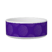 Flower Of Life / Blume des Lebens - pattern violet Bowl