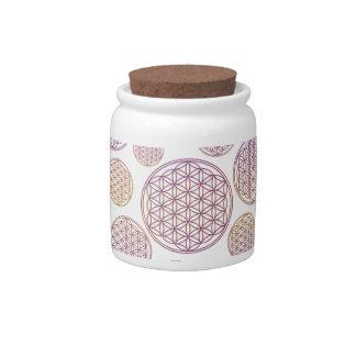 Flower of Life / Blume des Lebens - pattern violet Candy Jars