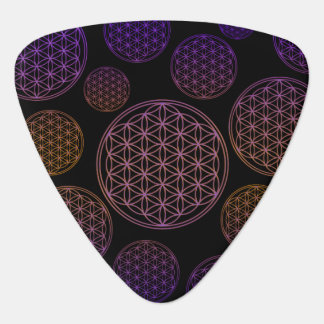 Flower of Life / Blume des Lebens - pattern violet Guitar Pick