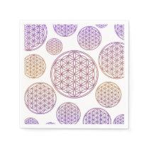Flower of Life / Blume des Lebens - pattern violet Paper Napkin