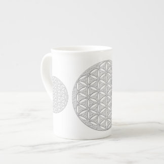 Flower Of Life / Blume des Lebens - punched white Tea Cup