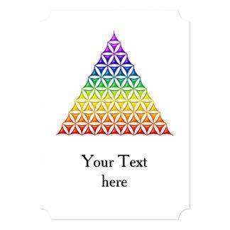 Flower Of Life / Blume des Lebens - pyramid chakra Card