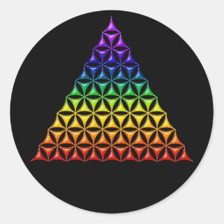 Flower Of Life / Blume des Lebens - pyramid chakra Classic Round Sticker