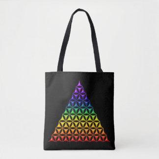 Flower Of Life / Blume des Lebens - Pyramid color Tote Bag