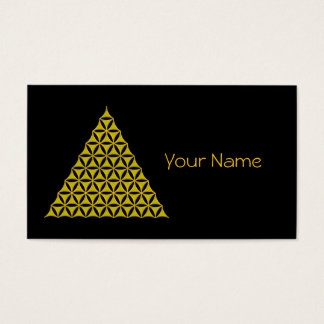 Flower Of Life / Blume des Lebens - pyramid gold Business Card