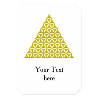 Flower Of Life / Blume des Lebens - pyramid gold Card