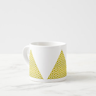 Flower Of Life / Blume des Lebens - pyramid gold Espresso Cup