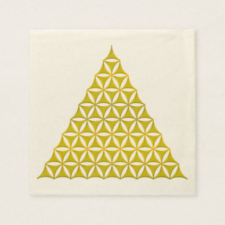 Flower Of Life / Blume des Lebens - pyramid gold Disposable Napkin