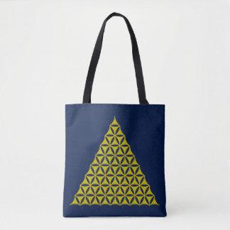 Flower Of Life / Blume des Lebens - Pyramid gold Tote Bag