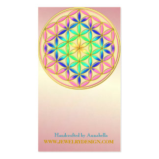 Flower of Life Blume des Lebens Romantic Colors Double-Sided Standard Business Cards (Pack Of 100)
