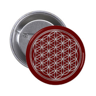 Flower Of Life / Blume des Lebens - shiny crystal Button