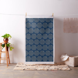 Flower Of Life / Blume des Lebens - silver Fabric