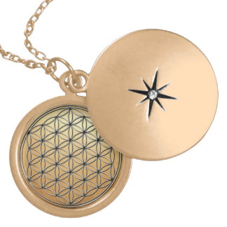 Flower of Life Blume des Lebens Silver Gold Gold Plated Necklace