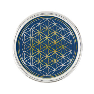 Flower Of Life / Blume des Lebens - silver gold Pin