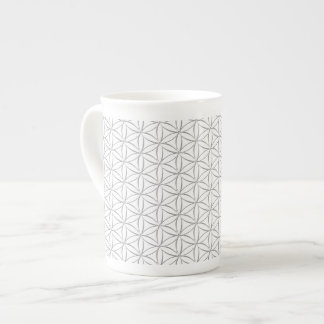 Flower of Life / Blume des Lebens - silver pattern Tea Cup