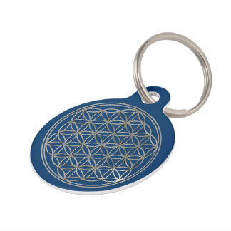 Flower of Life / Blume des Lebens - SILVER Pet ID Tag