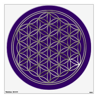 Flower of Life / Blume des Lebens - SILVER Wall Decal