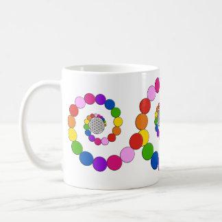 Flower of Life / Blume des Lebens - spiral dots Classic White Coffee Mug