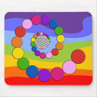 Flower of Life / Blume des Lebens - spiral dots Mouse Pad